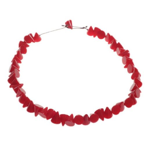 Jackie Brazil Small Cones Resin Necklace in Red Gloss